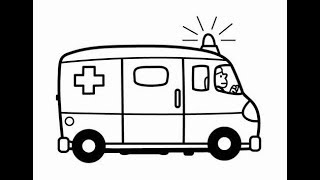 Cars for Kids Drawing Ambulance, Excavator, Car How to Draw And Paint Car Coloring Book Fun Painting