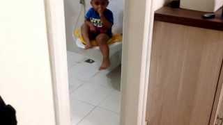 Arjun on potty seat