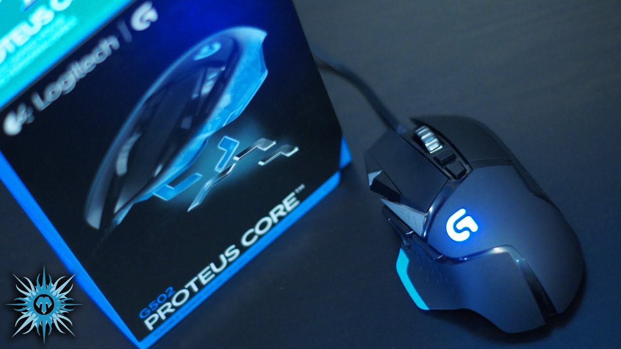 Logitech G502 Proteus Core Tunable Gaming Mouse Unboxing