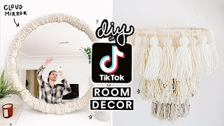 RECREATING VIRAL TIK TOK DIY ROOM DECOR ☁️ Cloud Mirror + More!