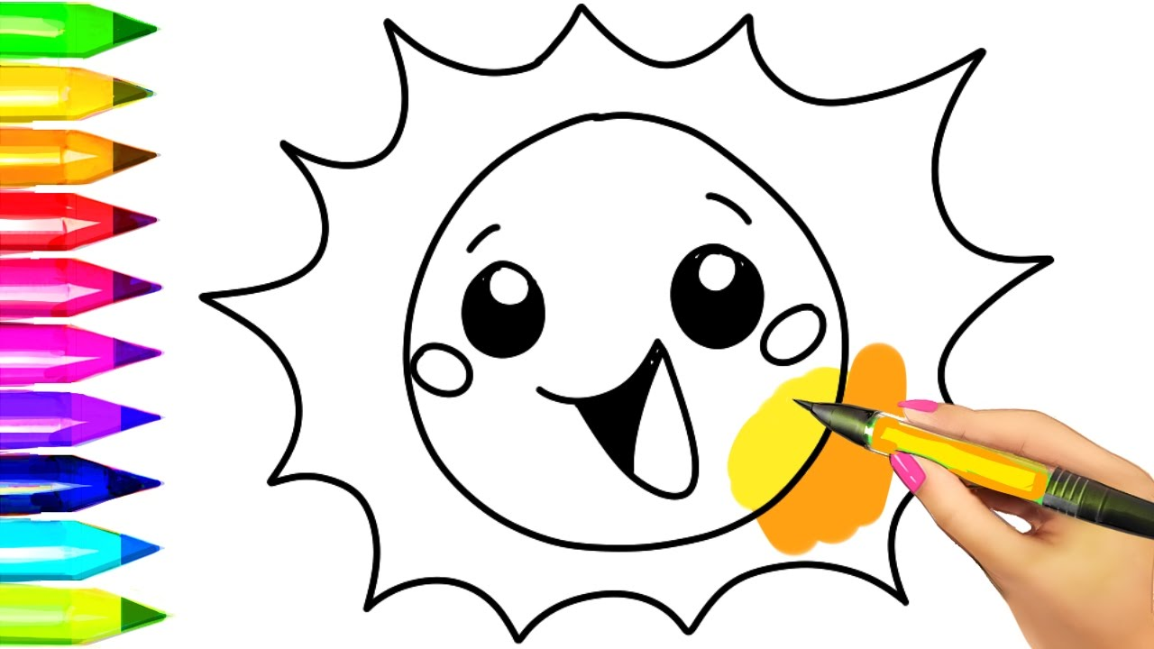44 Cartoon Sun Coloring Pages For Free