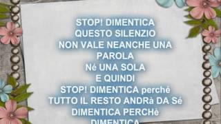 stop! dimentica tiziano ferro + testo