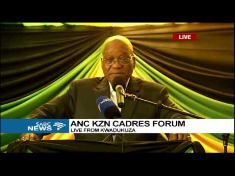 Pres Zuma addresses KZN ANC Cadres