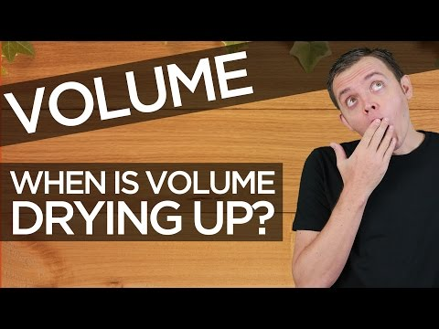 Stock Market Volume: How can you tell when volume is drying up for a breakout or a breakdown?