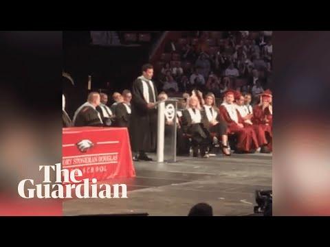Jimmy Fallon gives speech at Parkland school graduation