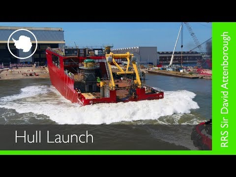 RRS Sir David Attenborough - Hull Launch - British Antarctic Survey