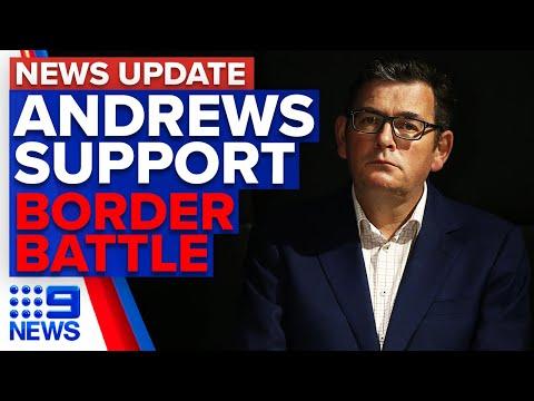 Poll shows Victorians support Andrews' coronavirus response | 9 News Australia