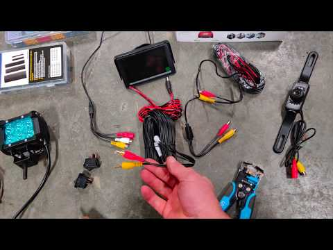 CHEAPEST BACKUP CAMERA ON AMAZON - Review/Install of the Cheap Reverse Camera + a LED Light