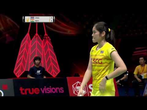 SCG Thailand Open 2017 | Badminton SF M5-WS | Busanan Ongbamrungphan vs Saina Nehwal