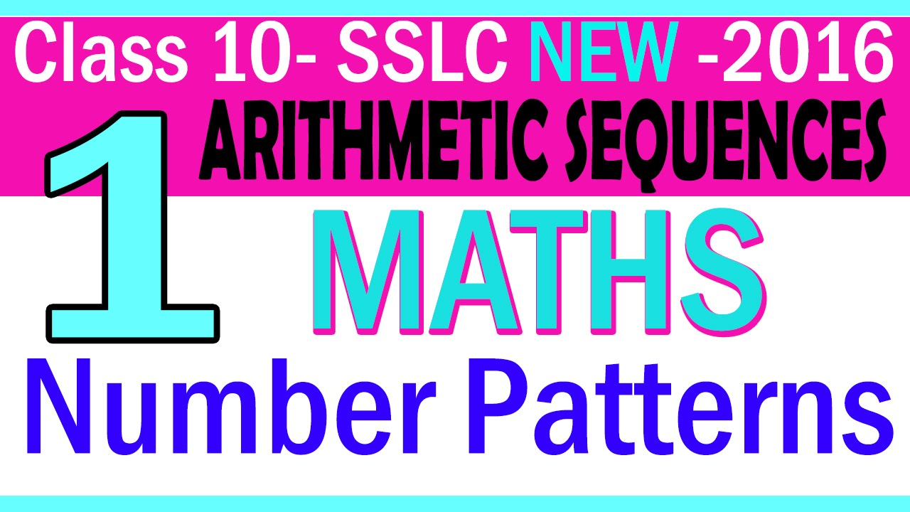 MATHS  PART1- CHAPTER 1 - NUMBER PATTERN  NEW SYLLABUS   2016 ...