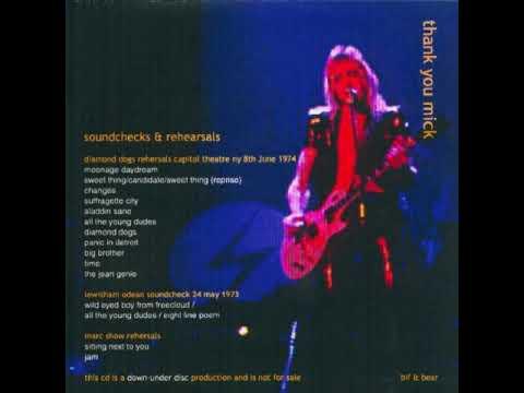 David Bowie Diamond dogs Tour Rehaersals New York june 8th 1974  audio