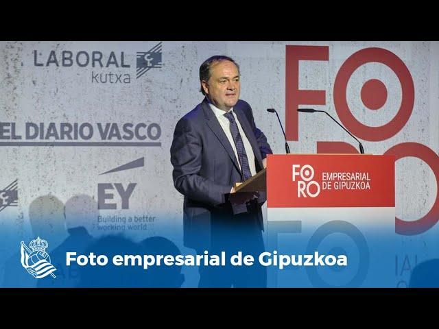 Jokin Aperribay, en la undécima edición del Foro empresarial de Gipuzkoa   Real Sociedad