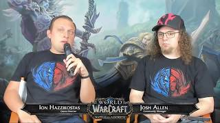 WoW Live Developer Q&A w/ Ion Hazzikostas - August 23, 2018