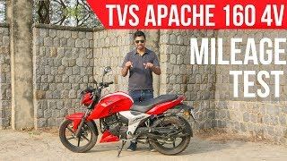 TVS Apache RTR 160 4V Real Traffic Condition Mileage Test