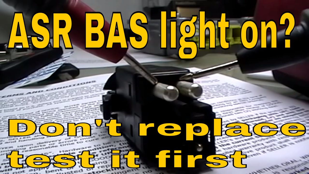 mercedes e class brake light switch test bas asr acc skid control light on [ 1280 x 720 Pixel ]