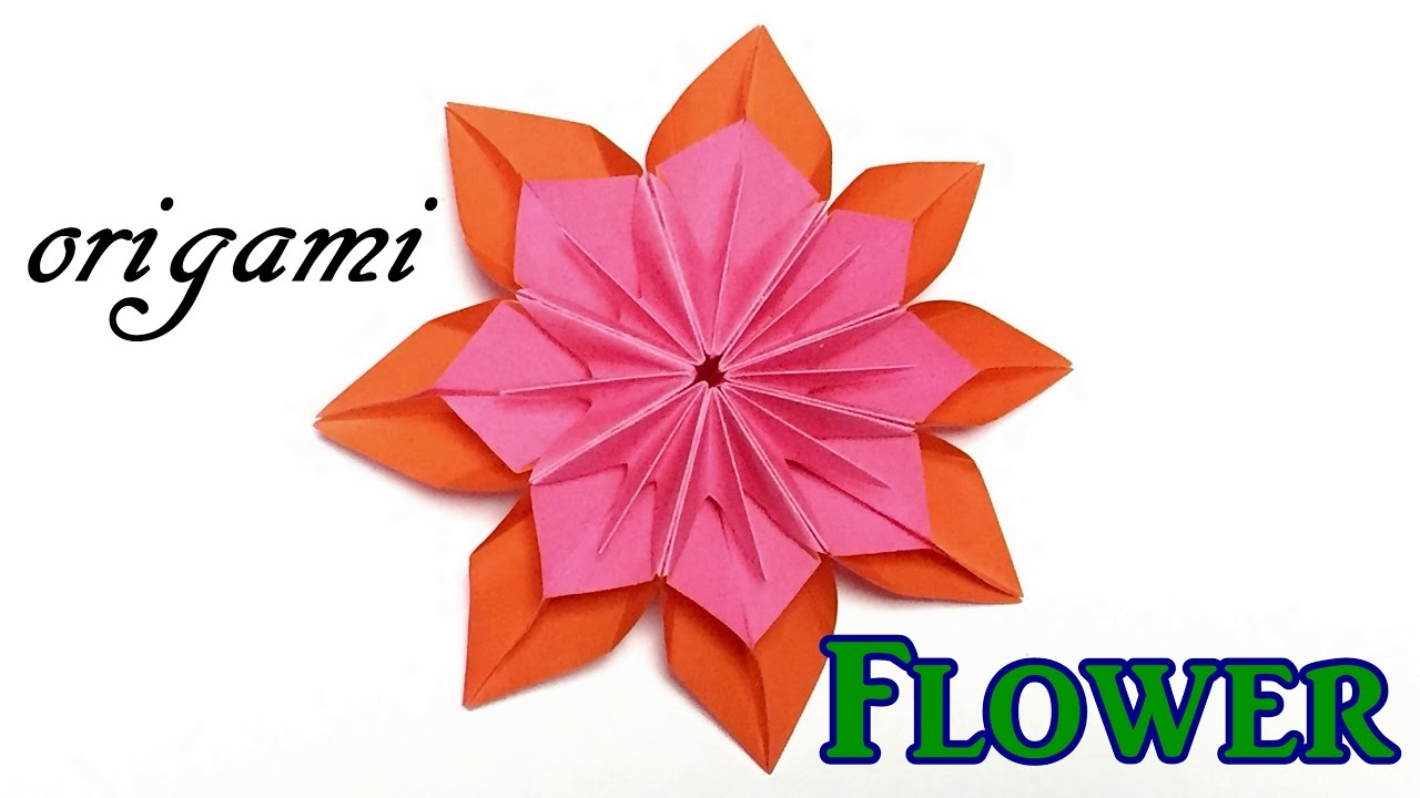 Awesome Paper Flower Origami Modular Flower Tutorial Easy But Cool