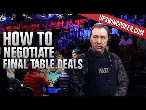 Negotiating Final Table Deals