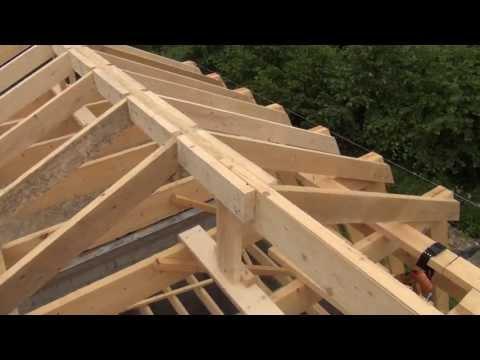 видео: Крыша делаем конек и устанавливаем стропила