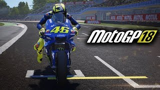 MotoGP 18 Gameplay PC - Valentino Rossi at Assen (MotoGP 2018 Game)