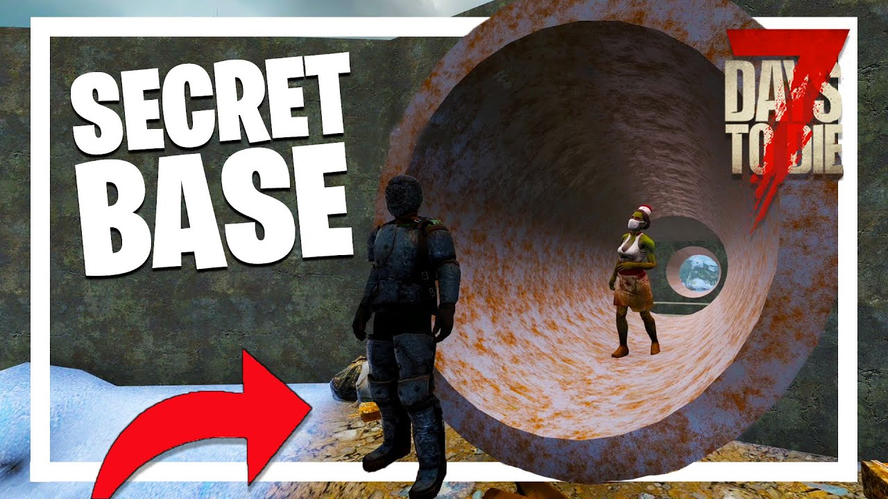 Download Building a SECRET TUNNEL BASE! - The Hunt: 7 Days to Die PVP (7 Days to Die Alpha 19.3)