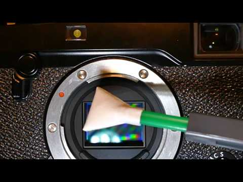 How to clean sensor of Fujifilm X-Pro2 with MXD-100 Green Vswab, Sensor Clean or Smear Away
