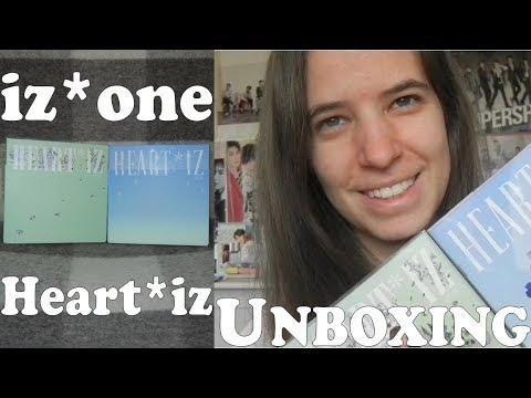 Unboxing - IZ*One - Heart*iz - 2nd Mini Album - Violeta & Sapphire Ver.