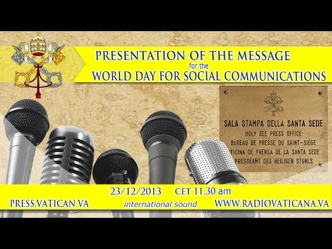Press conference on the Message for the World Day for Social Communications