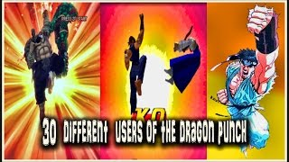 30 Users Of The Dragon Punch Iconic Fighting Game Moves Youtube