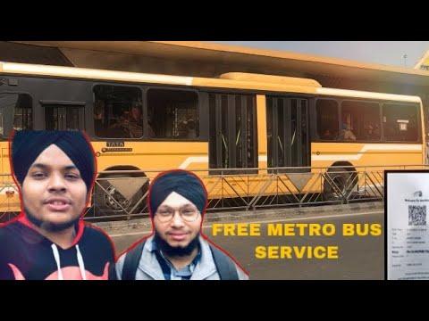 Free Metro Bus Ride In Amritsar   Metro Bus Vlog   Review  (2nd Vlog)