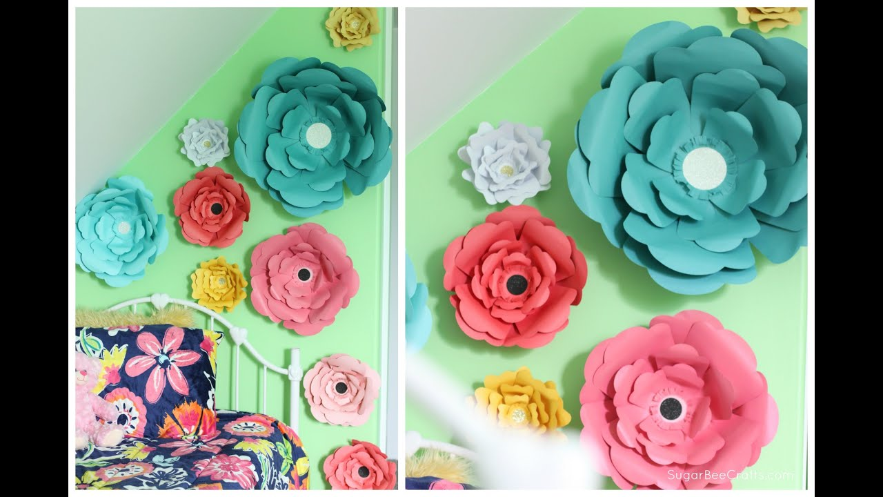 How to make large paper flowers youtube mightylinksfo