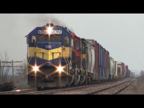 DM&E 6368 West by Genoa, Illinois on 1-8-2012