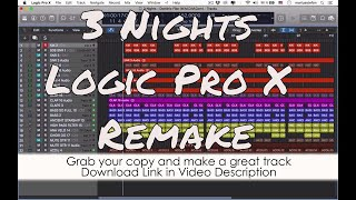 3 Nights Dominic Fike Logic Pro X Remake Template