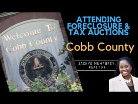 How To Buy A House At Foreclosure And Tax Auctions | Cobb County | Atlanta Realtor | Auction Advice