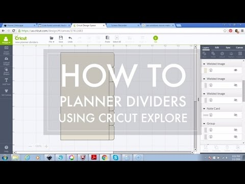 How to Make Personal Size Planner Dividers with Cricut Explore - YouTube