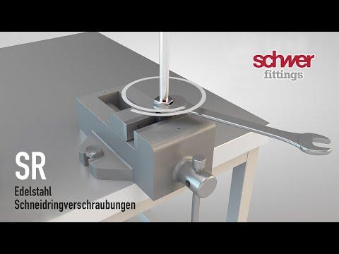 Schwer Fittings: Montage Einer Schneidringverschraubung Nach EN ISO 8434-1