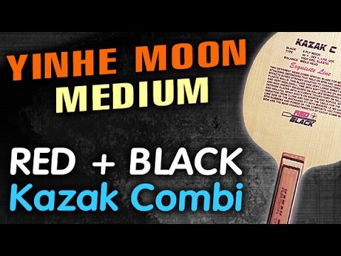 Test YINHE Moon Medium on RED + BLACK Kazak C (Kazak Combi)