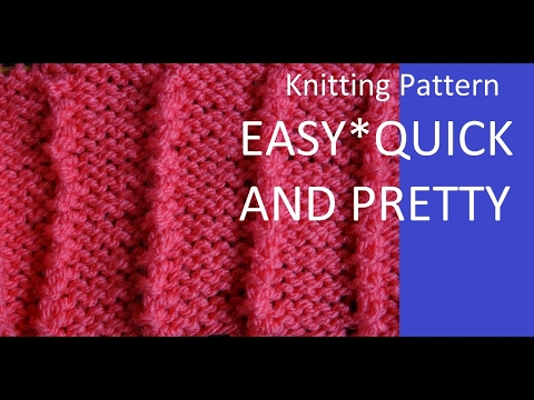 Knitting Pattern Easy And Quick Beginner Friendley Youtube