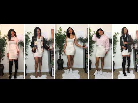 How To Style : Tank Bodycon Mini Dress   Lookbook. Http://Bit.Ly/2GPkyb3