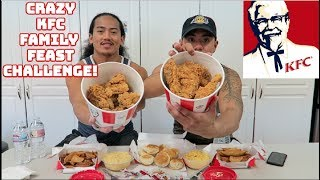 CRAZY KFC FAMILY FEAST CHALLENGE! EPIC CHEAT MEAL  