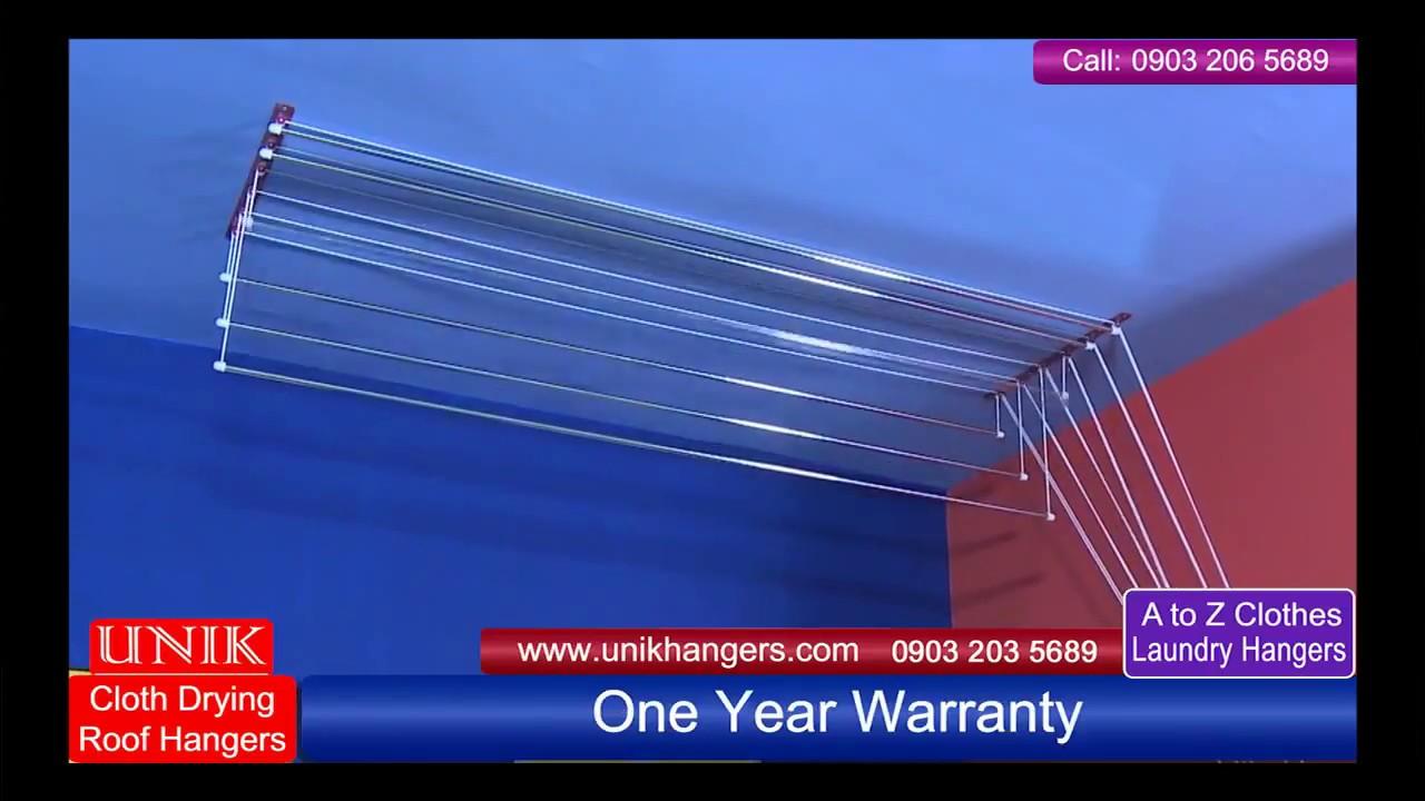 UNIK Cloth Drying Roof Hangers Ceiling Demo In Urdu