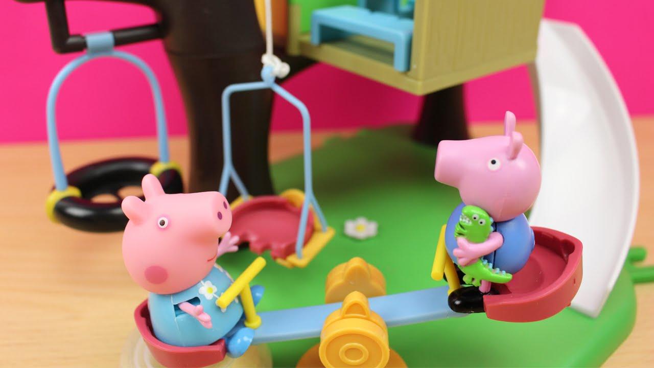 La casa del rbol de peppa pig en espa ol juguetes de peppa pig y george youtube - Peppa pig la casa del arbol ...