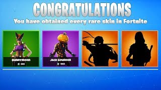 These are the *NEW* RARE SKINS in Fortnite!