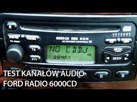 Ford Radio 6000CD RDS  speakers test