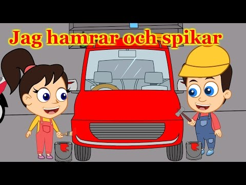 Barnsånger på svenska | Jag hamrar och spikar - Jag bygger en bil med mera