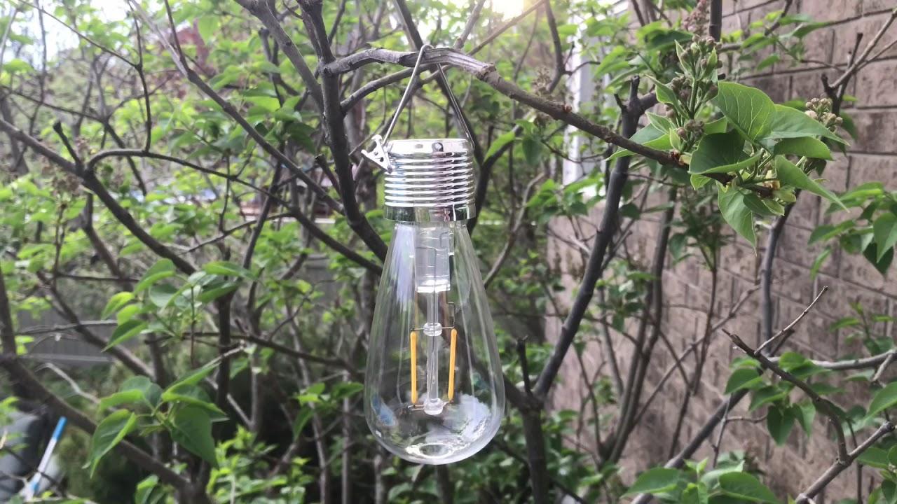 Walmart Solar LED Old Fashioned Edison Light Bulb Part 1