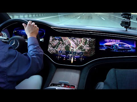 2022 Mercedes EQS NEW S Class Electric Light Camo FULL Drive Review Interior Exterior