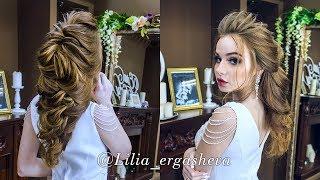 Свадебная Прическа /Прическа на Выпускной/Текстурная Греческая коса🌹Prom hairstyles Сompilation
