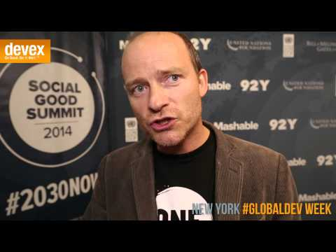 ONE Co-founder Jamie Drummond says 'old stuff' not just cellphones are sources of empowerment