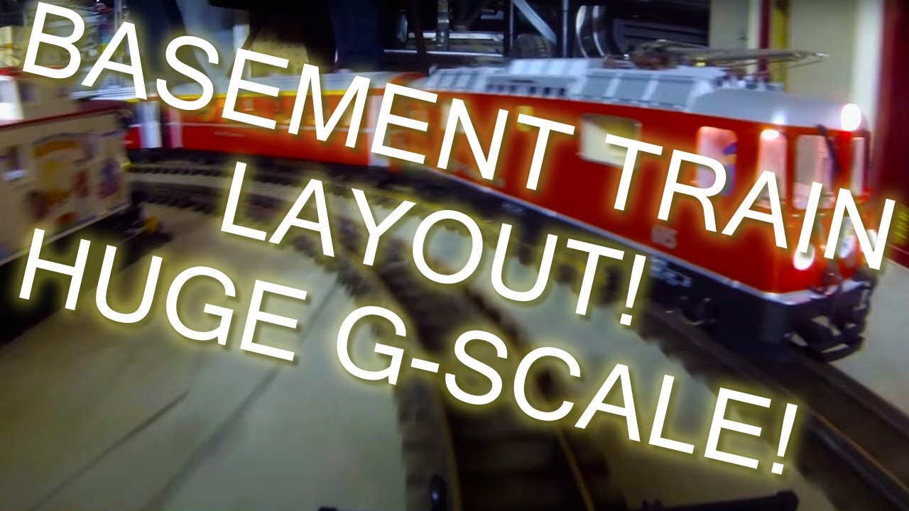 lgb g scale train layout in our basement