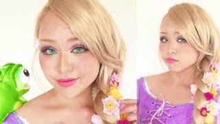 ディズニープリンセスラプンツェルメイク・Rapunzel makeup